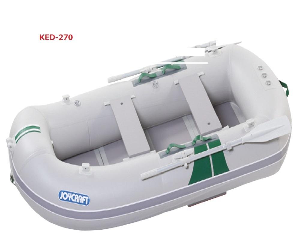 【送料無料から】ジョイクラフト ローイングシリーズ275 (KED-270)GSセット 予備検なし ゴムボート 釣り 2馬力 免許不要 3人乗り 2人乗り 定員4名 ウッドフロアモデル 剛性が優秀