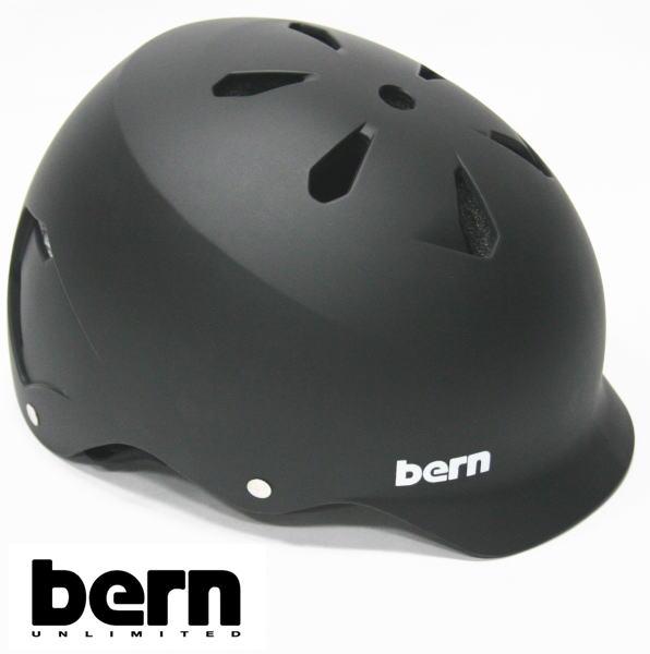 12月2日までポイント10倍● bern ヘルメット WATTS オールシーズンモデル Matte Black ジャパンフィット ワッツ 自転車 BMX スケボーヘルメット バーン ヘルメット【w27】