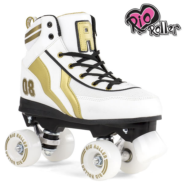 RIO ROLLER クワッドスケート VARSITY White×Gold ローラースケート 【smtb-k】[%OFF]【w02】