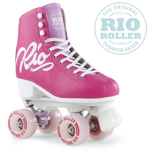 RIO ROLLER クワッドスケート 2018 SCRIPT Pink×Lilac ローラースケート 【smtb-k】[%OFF]【w33】