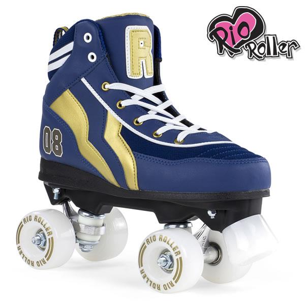 RIO ROLLER クワッドスケート VARSITY Blue×Gold ローラースケート 【smtb-k】[%OFF]【w22】