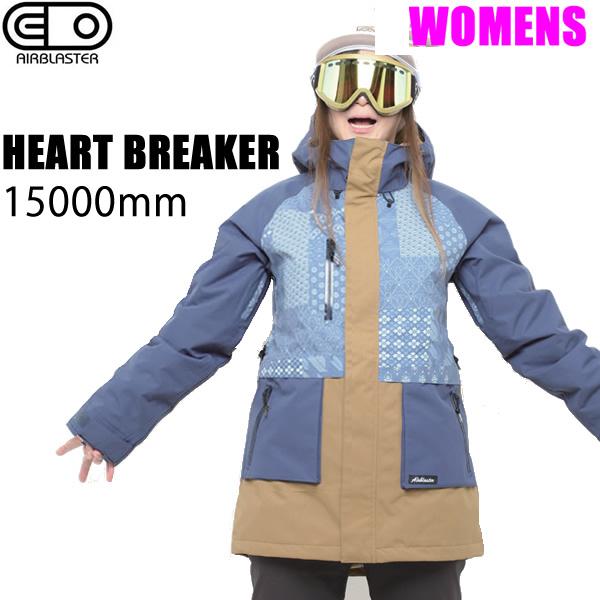 エアブラスター ウェア レディース 18-19 HEARTBREAKER JACKET / NAVY JAPANACANA ジャケット (2018-2019) AIR blaster ウエア  スノーボード ウェア レディース 【C1】【w20】
