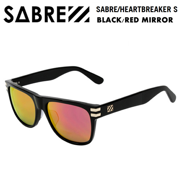 sabre サングラス HEARTBREAKER -S/BLACK/RED MIRROR sv250-115j セイバー サングラス【w02】