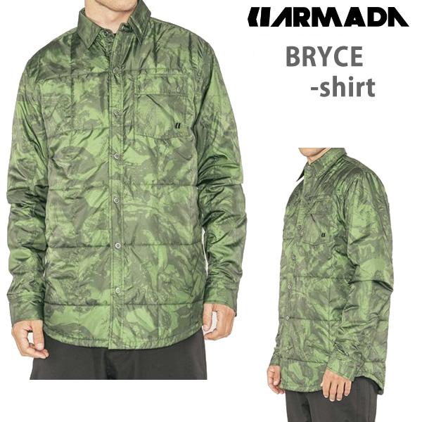 18-19モデル ARMADA アルマダ  BRYCE SHIRT シャツ / FOREST GREEN  スキーウェア 【スキーウェア・スキー用品】【C1】【w20】