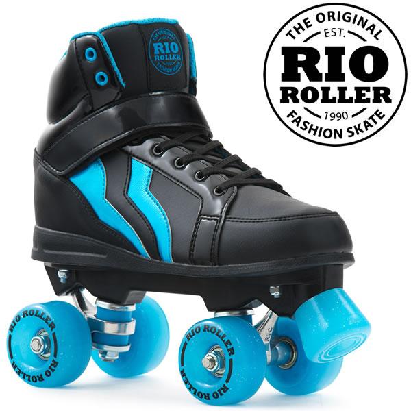 RIO ROLLER クワッドスケート KICKS Black-Blue ローラースケート 【smtb-k】[%OFF]【w02】