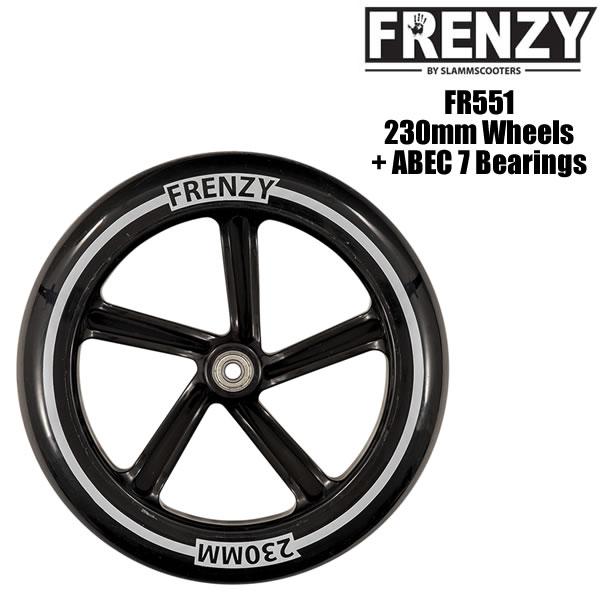 FRENZY キックボード スペアウィール FR551 230mm + ABEC 7 Bearings キックスクーター 【C1】【smtb-k】[%OFF]【w58】
