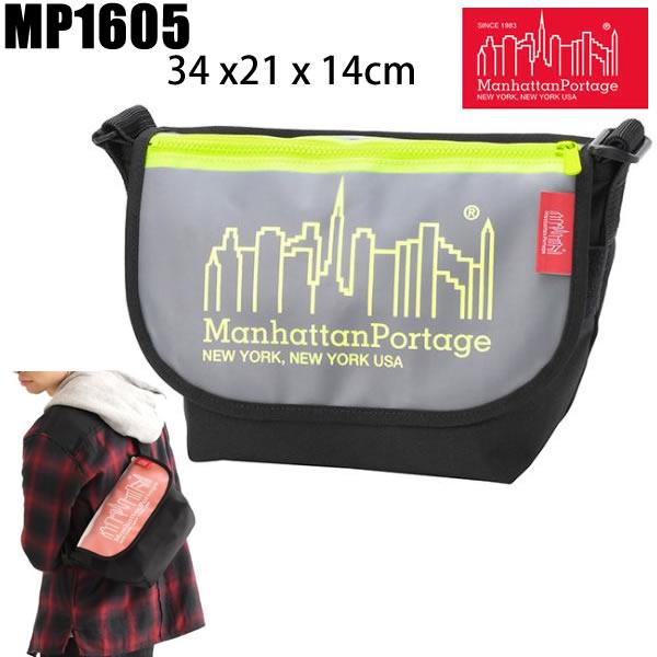 マンハッタンポーテージ リュック  Manhattan Portage CAREY Casual Messenger Bag JR ブラックイエロー MP1605JRCAREY Manhattan Portage 【バックパック・リュックサック】【w20】