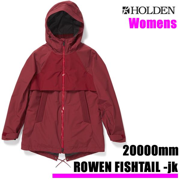【w59】ホールデン レディース  ウェア ジャケット 19-20 ROWEN FISHTAIL -jacket / MALBEC  (2019-2020 19-20) HOLDEN ウエア スノーボード ウェア【C1】【w59】【w60】