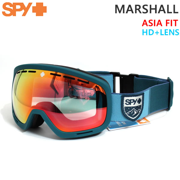 スノーボード ゴーグル SPY スパイ MARSHALL COLOR BLOCK TEAL/HD+ Low Light Gray Green w/ Red Spectra Mirror 19-20 アジアフィット【C1】【w02】