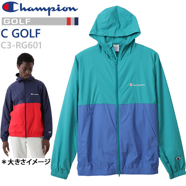 チャンピオン ゴルフ ストレッチ 撥水 フードジャケット C3-RG601  521 ミントグリーン  Champion GOLF 日本正規品【C1】【w20】