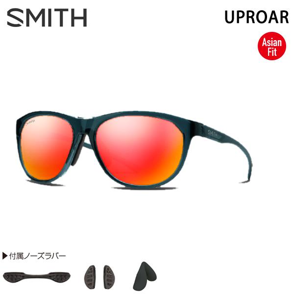 スミス サングラス アジアンフィット UPROAR  CRYSTAL Mediterranean - ChromaPop SUN RED MIRROR SMITH サングラス 日本正規品【C1】