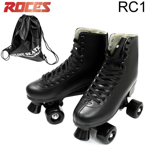 今なら収納用ナップザック付き ROCES クワッドスケート RC-1 Black プラ素材フレーム 限定品 トラック smtb-k w23 お見舞い ローラースケート ROLLER %OFF ロチェス CLASSIC