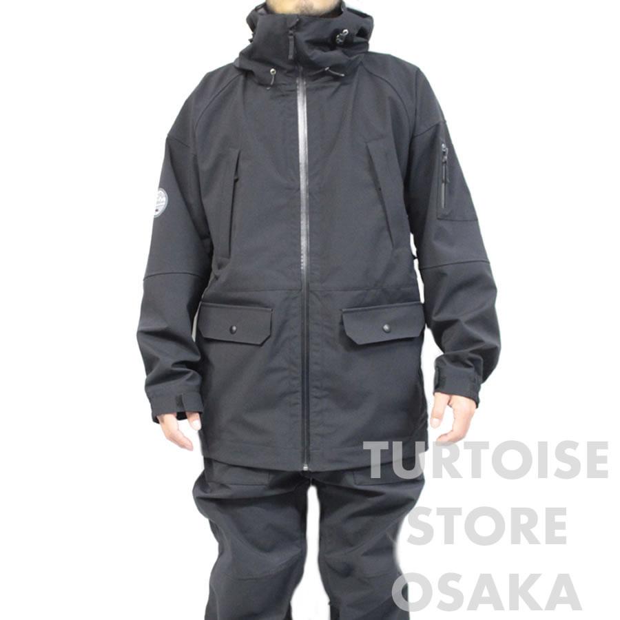 【w59】17-18 2017-2018 TURTOISE タータス スノーウェア 3LAYER 3レイヤージャケット / MT-6 - BLACK / メンズ スキーウェア スノーボードウェア バックカントリースキー パウダースキー ブラック【w59】【w60】