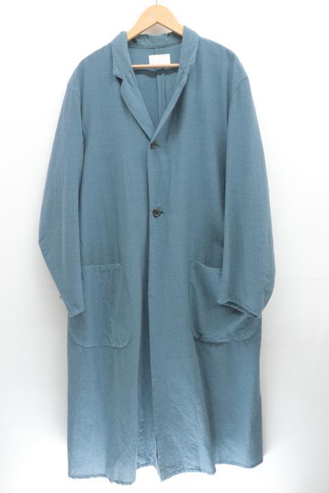 ウル ロングコート 2 青 ブルー お求めやすく価格改定 中古 絶品 無地 メンズ