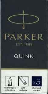 スーパーSALE セール期間限定 メール便OK パーカーカートリッジインク ブルーブラック 1950385 1箱5本入 売買