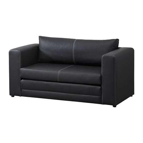 【IKEA/イケア/通販】 ASKEBY アスケビー 2人掛けソファベッド, ブラック(d)(50302057)