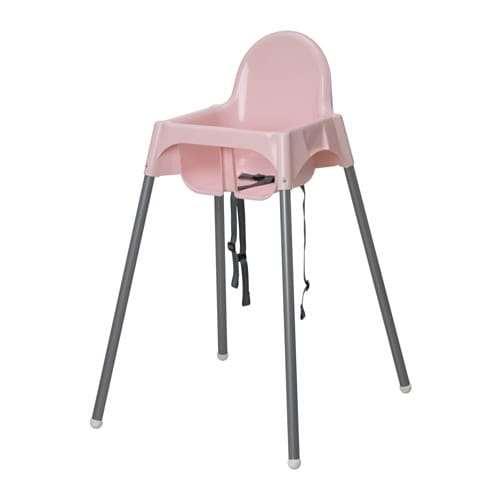 IKEA 内祝い イケア キッズ ハイチェア 通販 安心の実績 高価 買取 強化中 ANTILOP S49211529 シルバーカラー e アンティロープ ピンク 安全ベルト付き