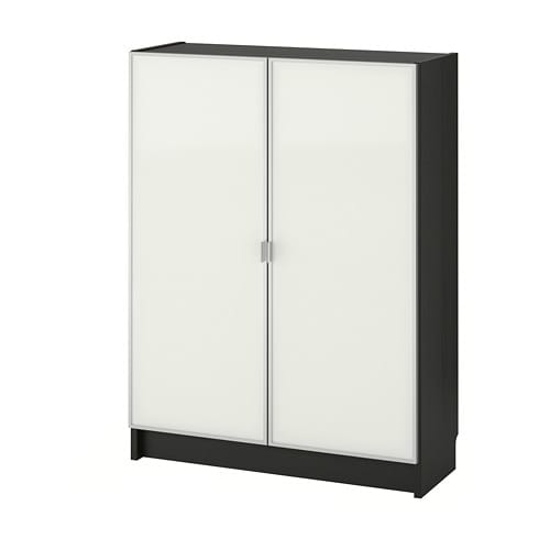 【IKEA/イケア/通販】 BILLY ビリー / MORLIDEN モールリーデン 書棚 ガラス扉付, ブラックブラウン, ガラス(a)(S69287368)