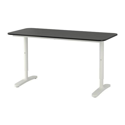 【IKEA/イケア/通販】 BEKANT ベカント デスク, ブラックステインアッシュ材突き板, ホワイト(a)(S09282670)