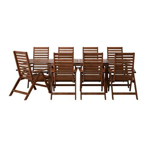 IKEA イケア 通販 PPLAR エップラロー テーブル リクライニングチェア8 屋外用 ブラウンステイン S49053983 代引不可商品 法要 キャッシュレス5%還元対象 売れ行き好調