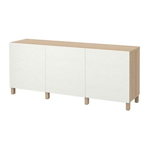 【IKEA/イケア/通販】 BESTÅ ベストー 収納コンビネーション 扉付, ホワイトステインオーク調, ラクスヴィーケン ホワイト(a)(S19187489)