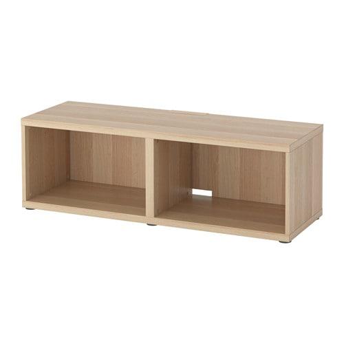 【期間限定】【IKEA/イケア/通販】 BESTÅ ベストー テレビ台, ホワイトステインオーク調(d)(80294857)