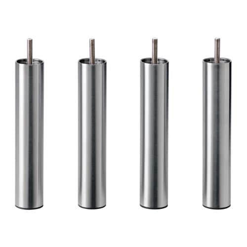 【IKEA/イケア/通販】 BJORLI ビョールリ 脚, ステンレススチール/4 ピース(c)(90309735)