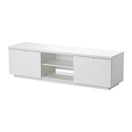 【IKEA/イケア/通販】 BYÅS ビーオース テレビ台, ハイグロス ホワイト(c)(00352573)