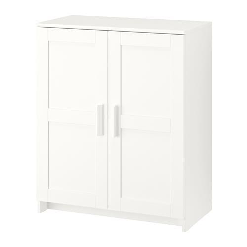 【IKEA/イケア/通販】 BRIMNES ブリムネス キャビネット 扉付, ホワイト(d)(00351861)