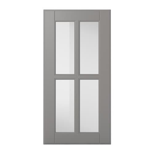 【IKEA/イケア/通販】 BODBYN ボードビーン ガラス扉, グレー(a)(10387299)
