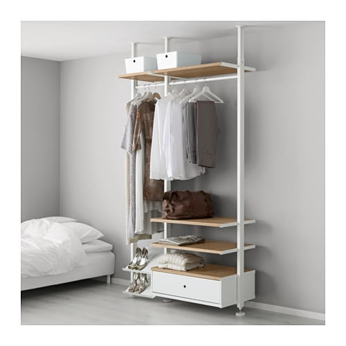 【IKEA/イケア/通販】 ELVARLI エルヴァーリ 2セクション, ホワイト, 竹(a)(S99158157)【代引不可商品】
