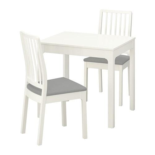 【IKEA/イケア/通販】 EKEDALEN エーケダーレン / EKEDALEN エーケダーレン テーブル&チェア2脚, ホワイト, オッルスタ ライトグレー(a)(S69296867)