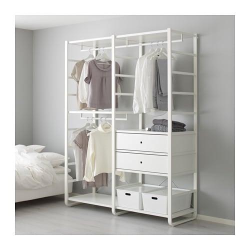 【IKEA/イケア/通販】 ELVARLI エルヴァーリ 2セクション, ホワイト(a)(S89157568)【代引不可商品】