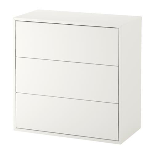 【期間限定】【IKEA/イケア/通販】 EKET エーケト キャビネット 引き出し3個付き, ホワイト(d)(00333971)