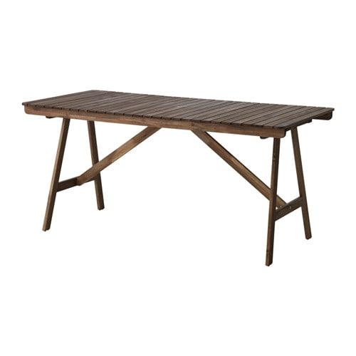【IKEA/イケア/通販】 FALHOLMEN ファルホルメン テーブル 屋外用, グレーブラウンステイン(70313093)