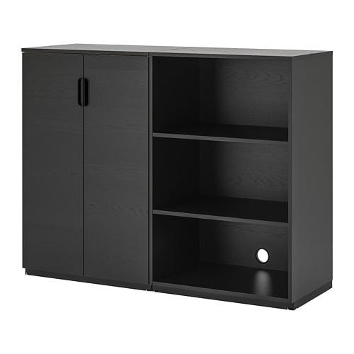 【IKEA/イケア/通販】 GALANT ガッラント 収納コンビネーション, ブラックステインアッシュ材突き板(a)(S69285798)【代引不可商品】