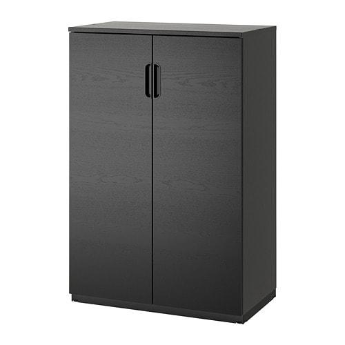 【IKEA/イケア/通販】 GALANT ガッラント キャビネット 扉付, ブラックステインアッシュ材突き板(a)(30365140)