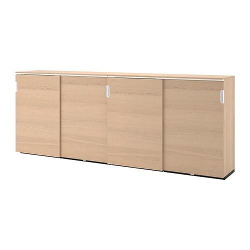 【IKEA/イケア/通販】 GALANT ガッラント 収納コンビネーション 引き戸付, ホワイトステインオーク材突き板(a)(S09285777)