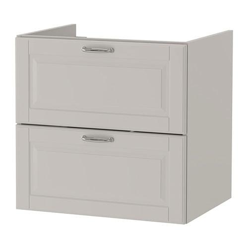 【IKEA/イケア/通販】 GODMORGON グモロン 洗面台(引き出し×2), カショーン ライトグレー(a)(10387633)
