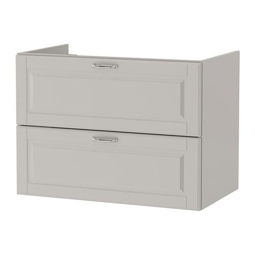 【IKEA/イケア/通販】 GODMORGON グモロン 洗面台(引き出し×2), カショーン ライトグレー(a)(10387652)
