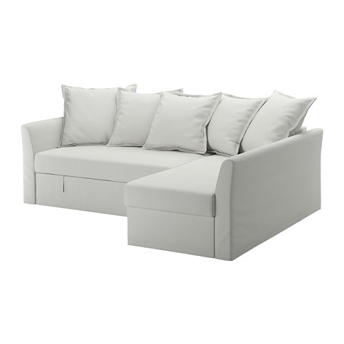 【IKEA/イケア/通販】 HOLMSUND ホルムスンド コーナーソファベッド, オッルスタ ライトホワイトグレー(a)(S09228211)