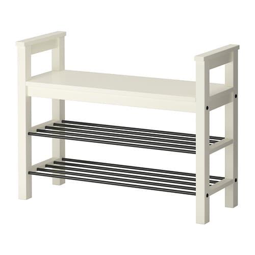 【IKEA/イケア/通販】 HEMNES ヘムネス ベンチ 靴収納付き, ホワイト(f)(40243799)