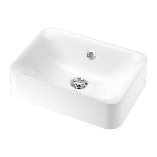 【IKEA/イケア/通販】 HÖRVIK ホールヴィーク カウンタートップ用洗面ボウル, ホワイト(a)(10358937)