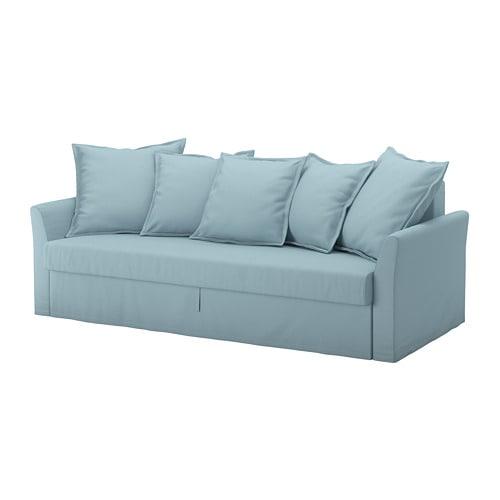 【IKEA/イケア/通販】 HOLMSUND ホルムスンド 3人掛けソファベッド, オッルスタ ライトブルー(a)(S69240757)【代引不可商品】