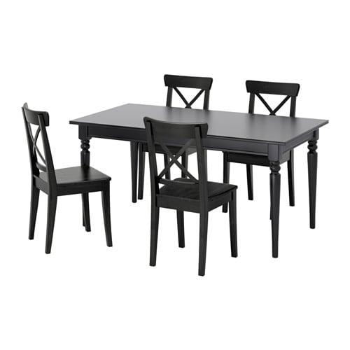 正規通販 【IKEA/イケア インゴルフ/通販】 INGATORP インガートルプ/ INGOLF インガートルプ INGOLF インゴルフ テーブル&チェア4脚, ブラック, ブラウンブラック(S79251175), Style Edition:11477382 --- konecti.dominiotemporario.com