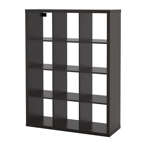 【IKEA/イケア/通販】 KALLAX カラックス シェルフユニット, ブラックブラウン●(a)(00409937)
