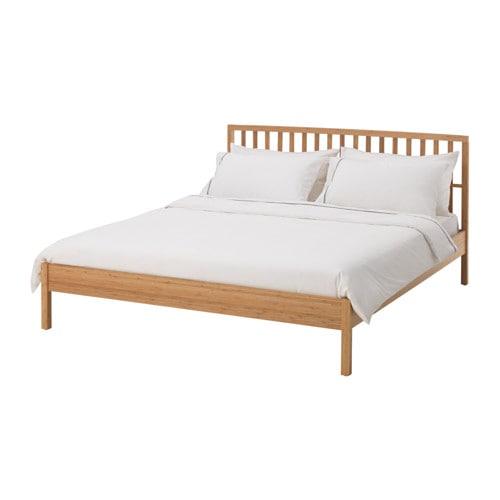 【IKEA/イケア/通販】 KONGSHUS コングスフース ベッドフレーム(a)(※マットレスなど別売りの商品がございます。ご注意ください), 竹, ロンセット(S59281989)