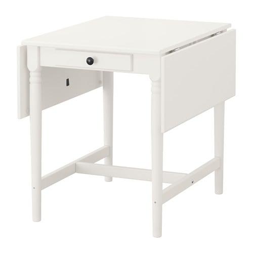 【IKEA/イケア/通販】 INGATORP インガートルプ ドロップリーフテーブル, ホワイト(a)(60423110)