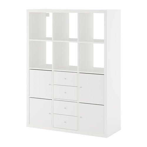 【IKEA/イケア/通販】 KALLAX カラックス シェルフユニット インサート6個付き, ホワイト●(a)(S09278263)