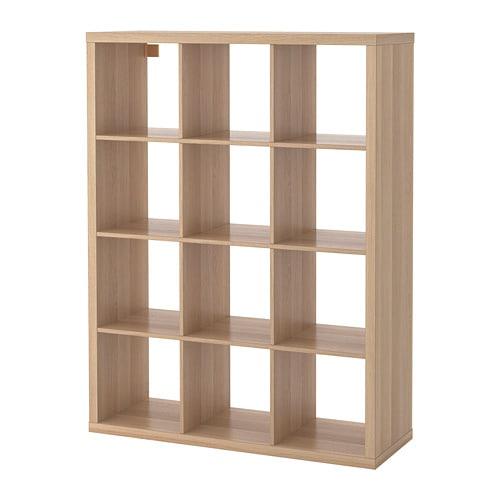 【IKEA/イケア/通販】 KALLAX カラックス シェルフユニット, ホワイトステインオーク調 ホワイトステインオーク調●(a)(20409941)【代引不可商品】